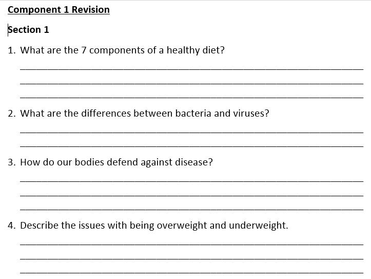 AQA ELC Science Revision