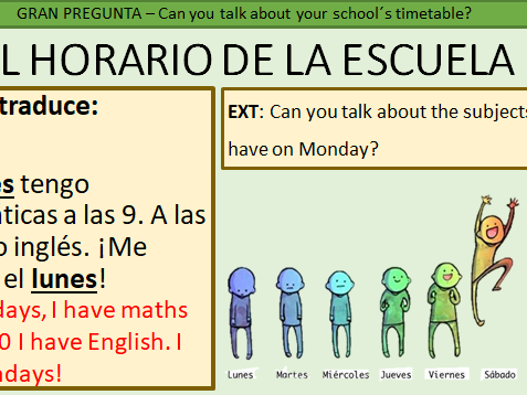 Year 7 Spanish - School and Subjects PPT