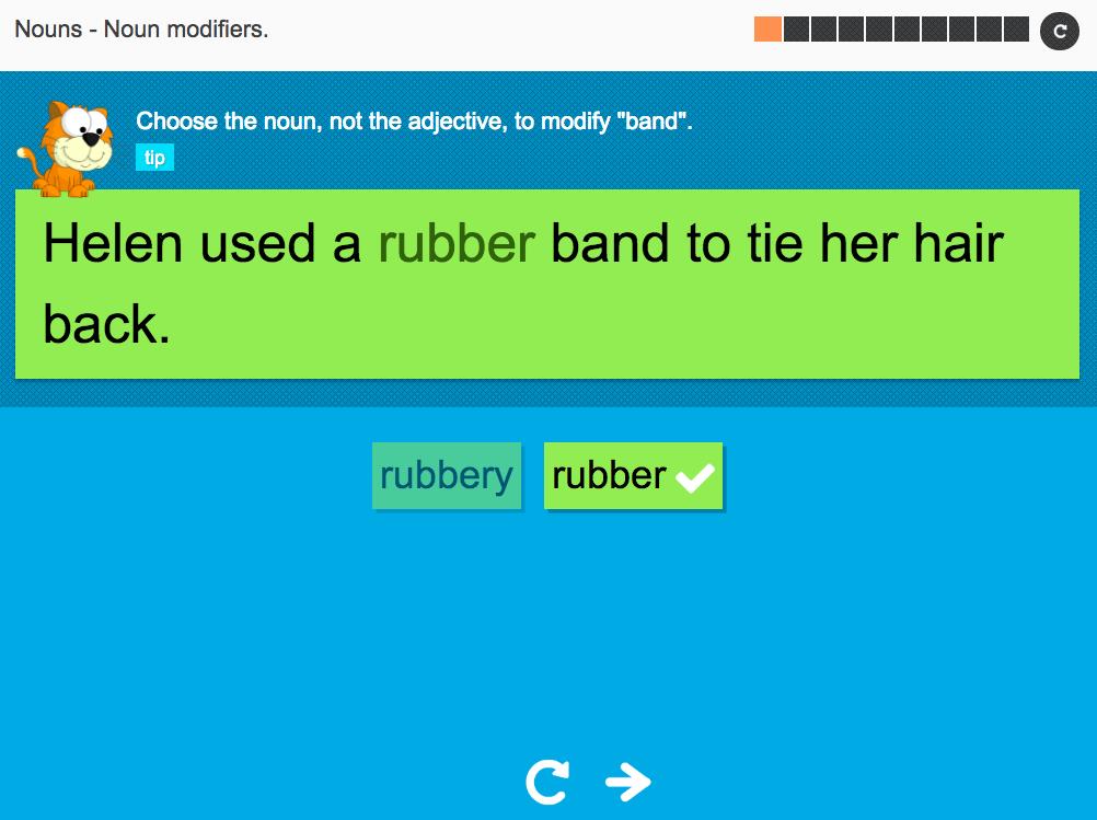 Noun modifiers - Interactive Activity - KS3 Spag