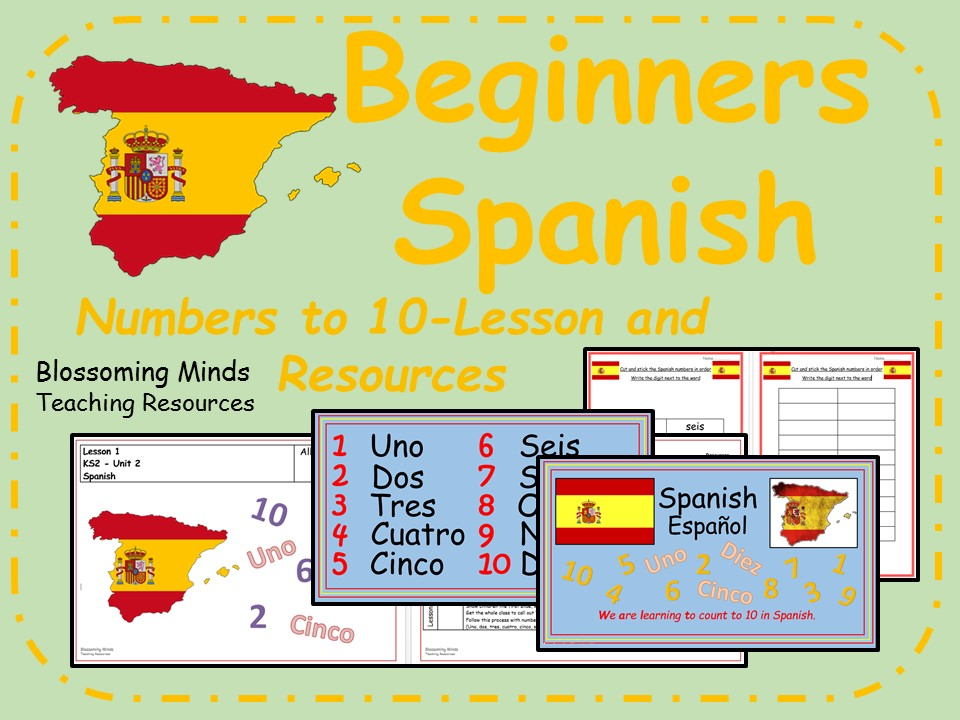 Spanish lesson and resources - KS2 - Numbers to 10