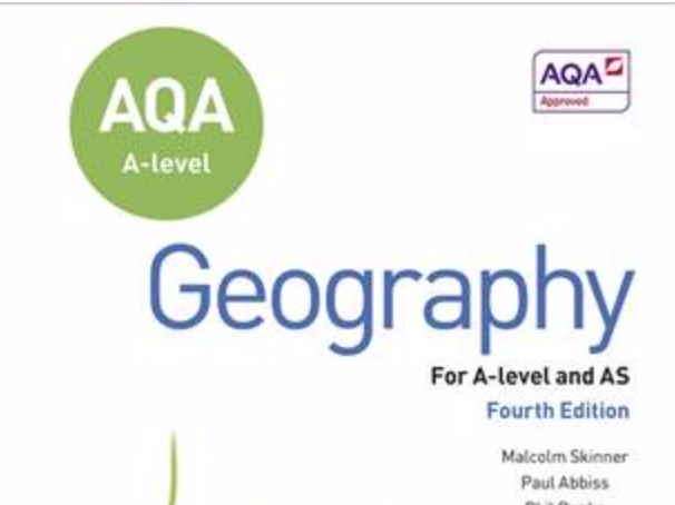 AQA A-Level Geography - Changing places