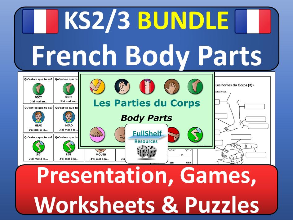 French Body Parts Les Parties du Corps BUNDLE