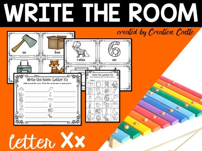 Alphabet Write the Room - Letter X