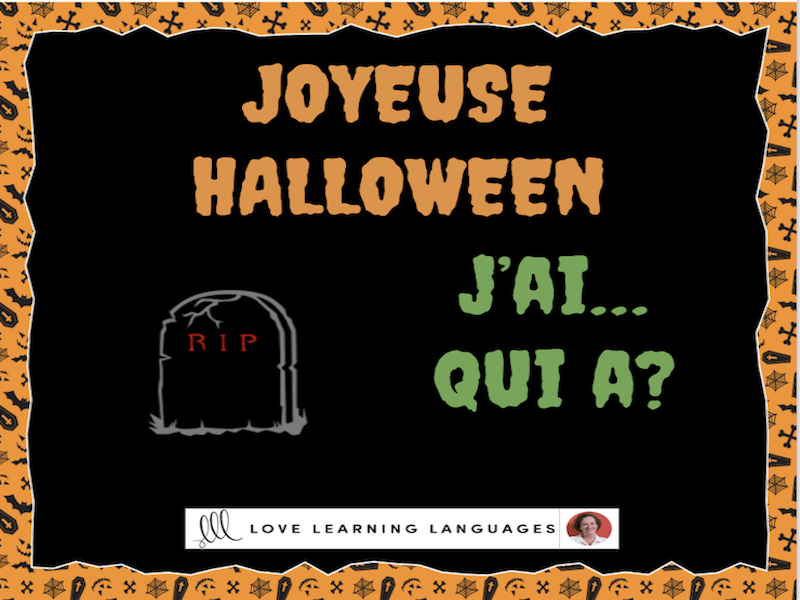 J'ai...Qui a? French Halloween Game - I have...Who has?