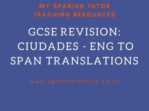 Mi Ciudad Translations English to Spanish