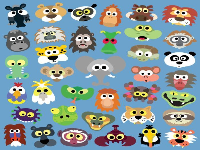 Printable Jungle Animal Masks