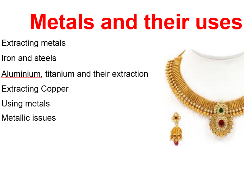 Metals and Their Uses GCSE Chemistry