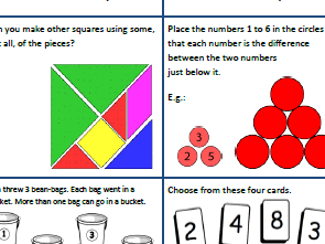 Year 1 and 2 Mathematics Challenges for every day of the Summer Holidays