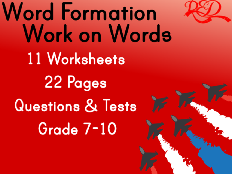 Word Formation Worksheets - FREE PREVIEW