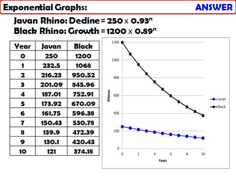 Using Exponential Graphs