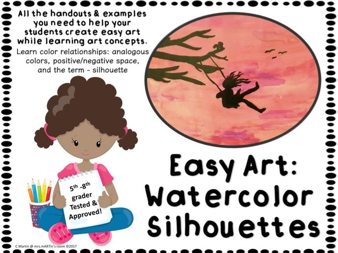 Easy Art: Watercolor Silhouettes