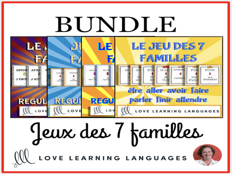 Jeux des 7 Familles - Bundled French Resources