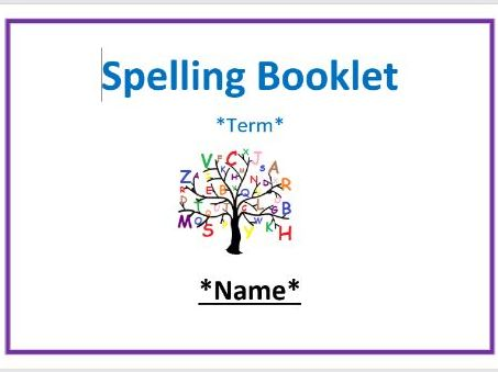Years 1/2 National Curriculum Spelling Booklet