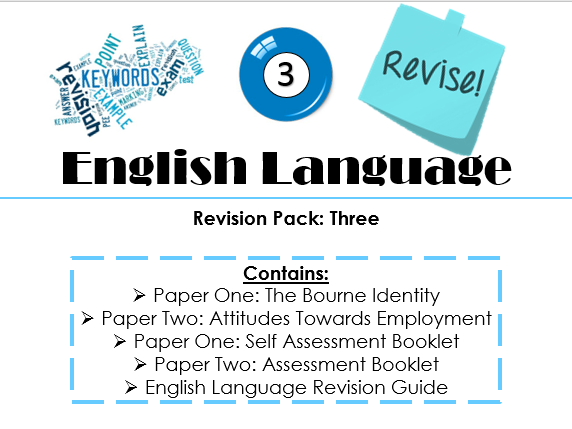 Pack Three: English Language Paper One and Paper Two Revision Guide With Mock Papers