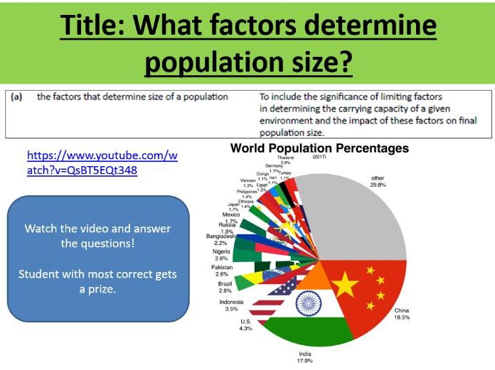 OCR A Level Biology - Factors Determining Population Size - Populations and Sustainability (6.3.2)