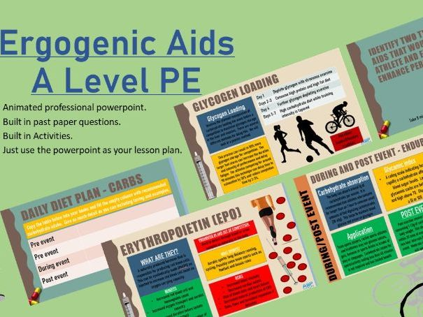 Ergogenic Aids A Level PE