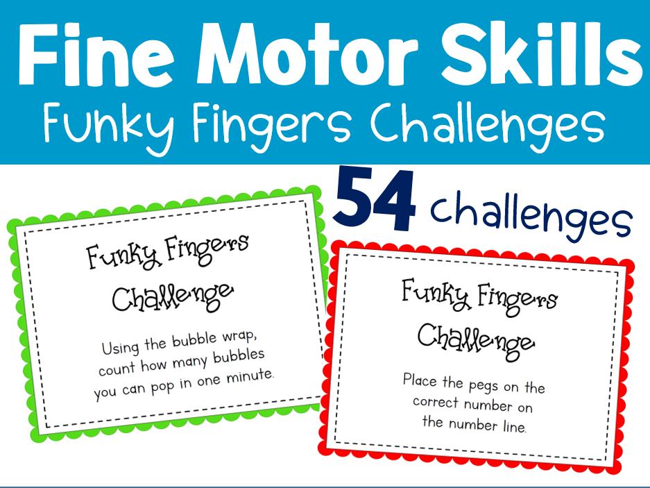 Fine Motor Skills - Funky Fingers Challenges