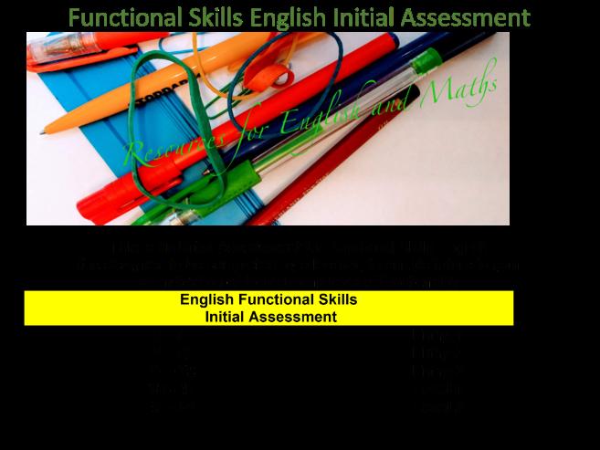 Functional Skills English Initial Assessment