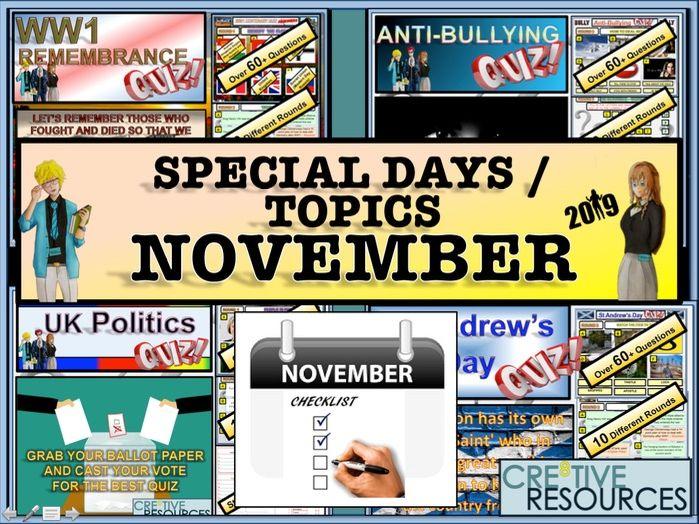Tutor Time Activities - November