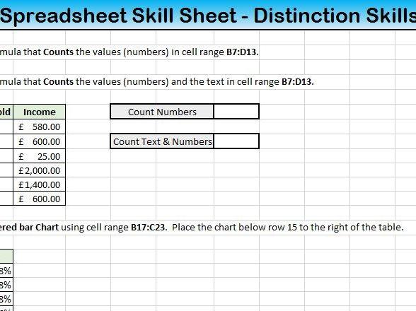 ECDL Excel Revision Lesson