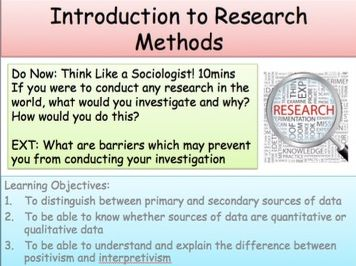 Introduction to Research Methods - AQA A/AS Level Sociology