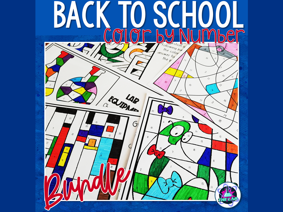 Back to School Science Colour by Number Bundle