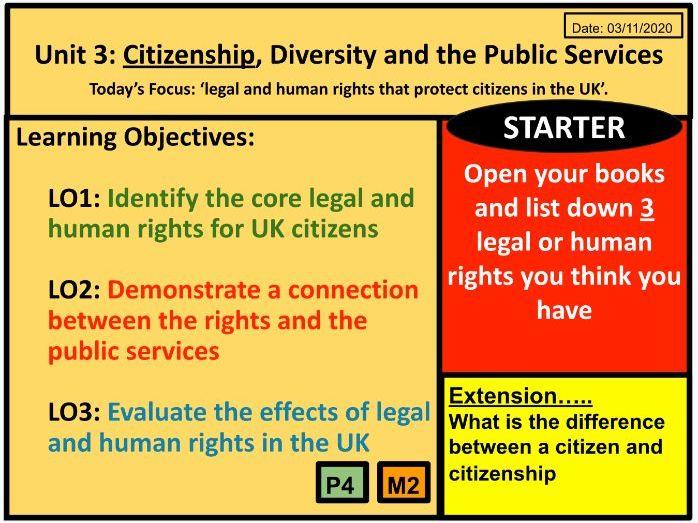 P4 M2 Public Services Unit 3: Citizenship, Diversity and the Public Services