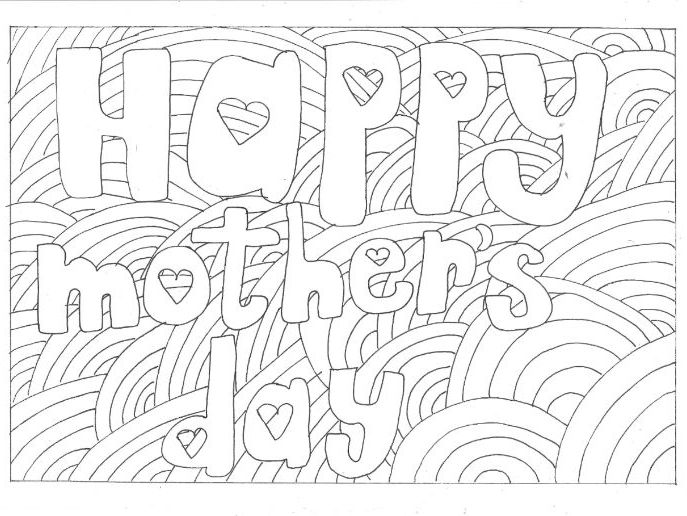 mothers day colouring page special days