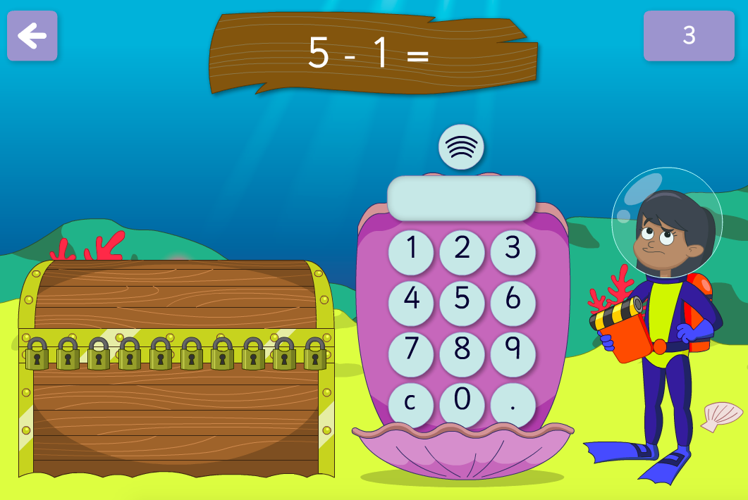 Subtraction to 100 - Unlock the Treasure Interactive Game - KS1 Number