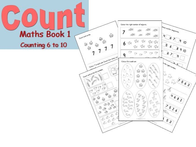 Reception maths 6 to 10 number book for home-learning