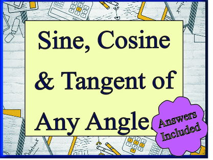 Sine, Cos and Tan of any Angle for 'A' Level - 40 Questions with Answers