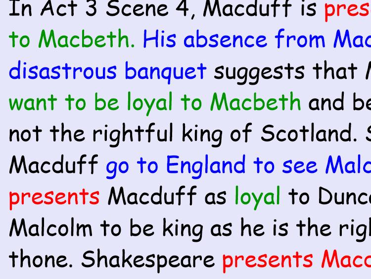 Essay on the presentation of Macduff in Macbeth