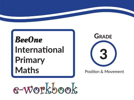 Grade 3 Position & Movement workbook of 15 pages from BeeOne Books