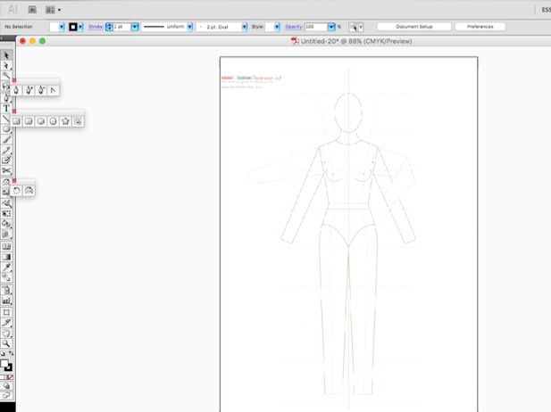 "Step by Step instruction on ""how to draw fashion flats"" in Illustrator (.ai)"