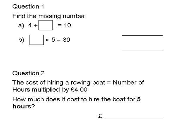 Year 8 Algebra Test