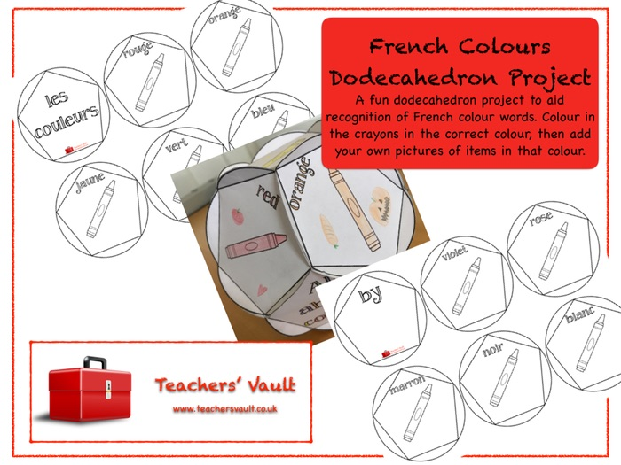 French Colours Dodecahedron Project