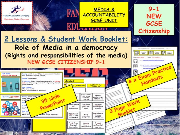 NEW GCSE Citizenship (9-1) The role of the media in a democracy  NEW GCSE Citizenship (9-1)