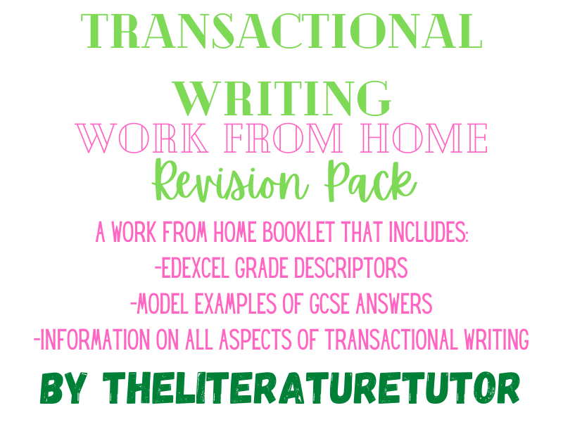 Transactional Writing: Work From Home Revision Pack
