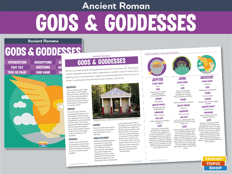 Ancient Romans - Roman Gods and Goddesses