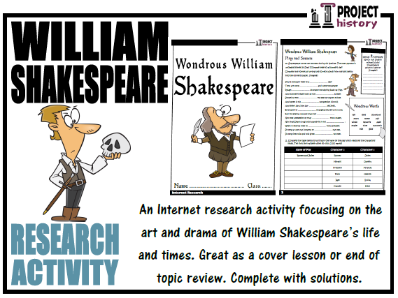 William Shakespeare Internet Research Activity