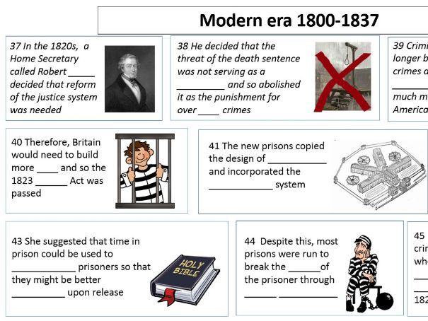 GCSE History Crime and Punishment Revision Comic Strip
