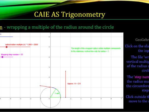 CAIE AS 9709 Maths Trigonometry