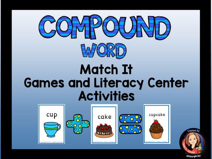 Compound Word Word Game and Center Activities