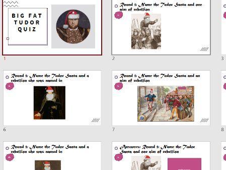 OCR Tudor Rebellions Christmas quiz