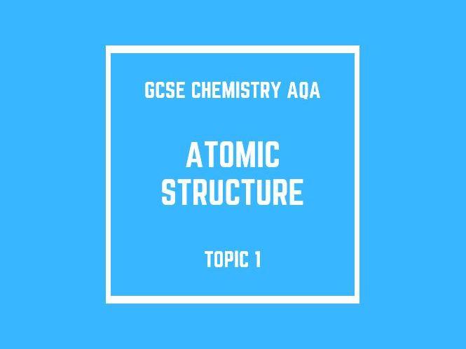 GCSE Chemistry AQA Topic 1: Atomic Structure