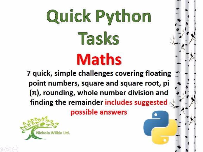 Maths (Quick Python Programming Challenges)