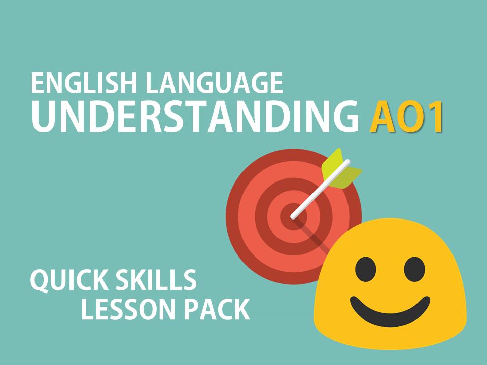 English Language AO1 Skills Lesson Pack - AQA, GCSE Scheme of Work