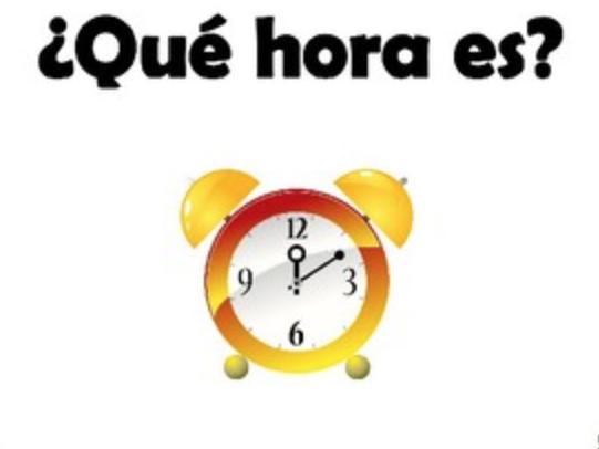Los lugares y la hora - Telling the time