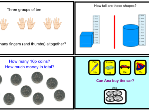 Year 1 Multiplication & Division - Counting in 10's (pptx)