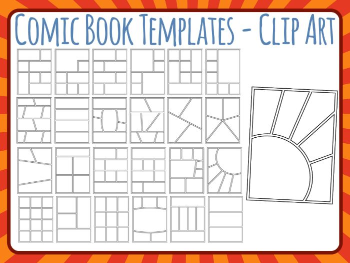 Comic Book Clip Art Templates Commercial Use